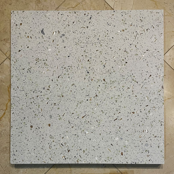 Florida Terrazzo by Glow Path Pavers in the light
